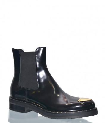 Черные ботинки Laura Bellariva 7507 в полированной коже