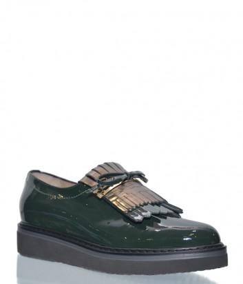 Женские лаковые туфли Norma J.Baker 8519 зеленые
