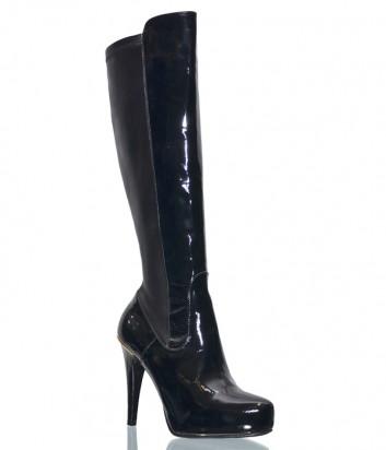 Лаковые кожаные сапоги Giovanni Fabiani 4030 черные