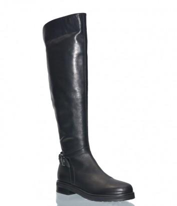 Кожаные ботфорты Laura Bellariva 7043 черные