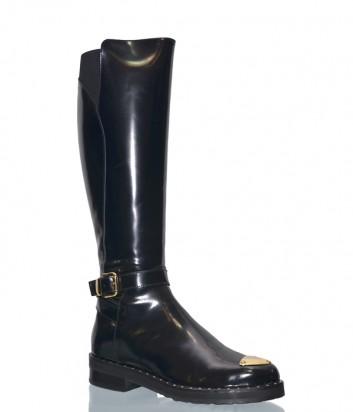 Черные сапоги Laura Bellariva 7508 в полированной коже