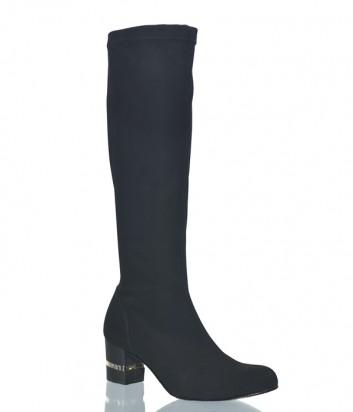 Черные сапоги-чулки Nila Nila 950 на маленьком каблуке