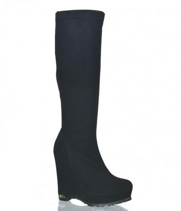 Черные сапоги-чулки Nila Nila 7986 на платформе