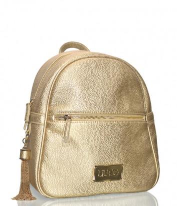 Золотой женский рюкзак Liu Jo с внешним карманом на молнии
