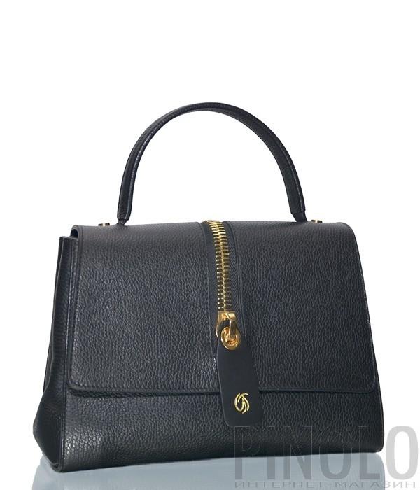 34c28ff5 Черная кожаная сумка Gilda Tonelli 5145 с откидным клапаном - купить ...