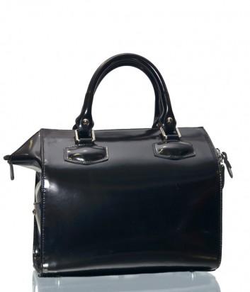 Женская сумка Gilda Tonelli 9400 в полированной черной коже