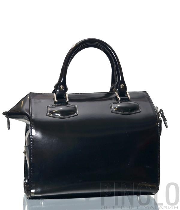 6747dd2fd55b Женская сумка Gilda Tonelli 9400 в полированной черной коже - купить ...