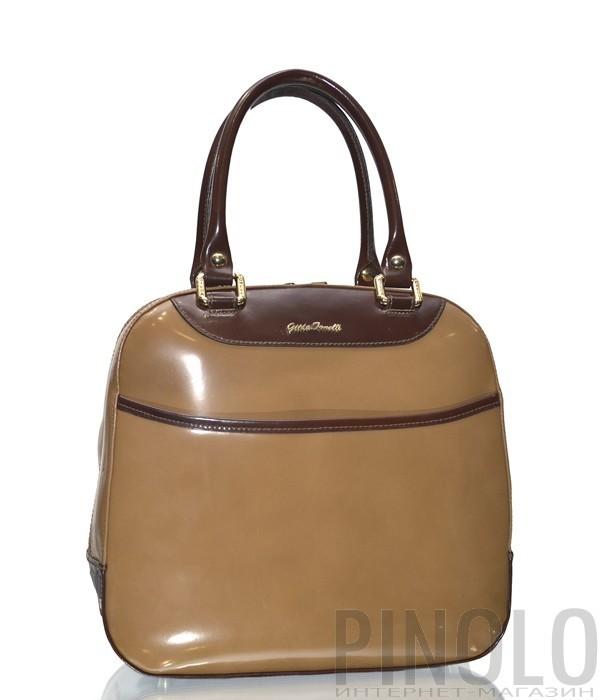 cb7e8819655a Женская сумка Gilda Tonelli 157 в карамельной полированной коже ...