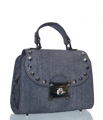 Серо-синяя сумка Leather Country 3092712 из замши с лазерной обработки