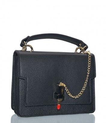 Черная кожаная сумка Leather Country 3292440 с замком в виде губной помады