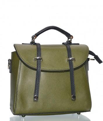 Кожаная оливковая сумка-портфель Leather Country 2592387 со съемным плечевым ремнем