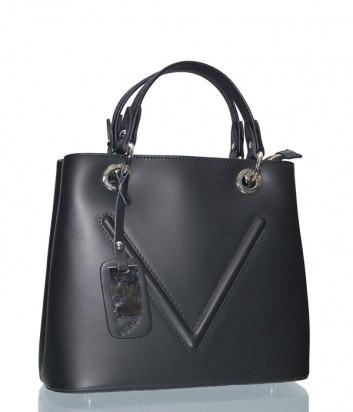 Женская сумка Leather Country 3891712 в черной гладкой коже