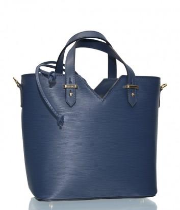 Синяя женская сумка Leather Country 3831757 в текстурной коже