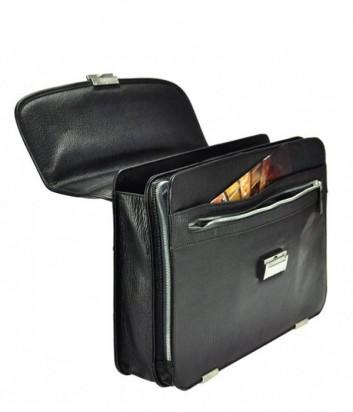 Функциональный мужской кожаный портфель Gilda Tonelli 2243 черный