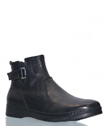 Кожаные ботинки Fabi 6555 черные