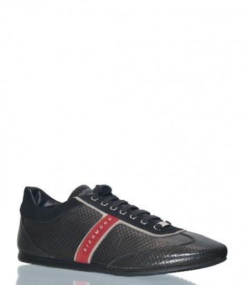 Мужские кожаные кроссовки Richmond 6462 черные