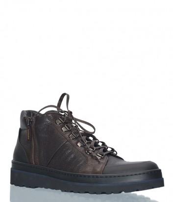 Мужские кожаные ботинки Luca Guerrini 9233 коричневые