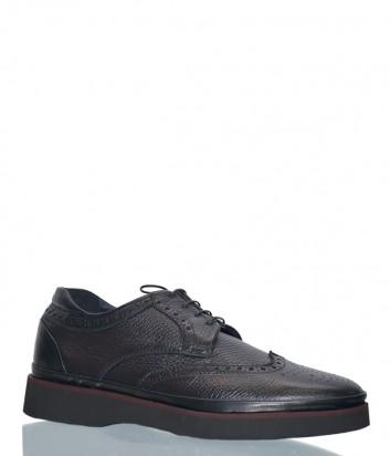 Мужские кожаные туфли Luca Guerrini 8687 коричневые