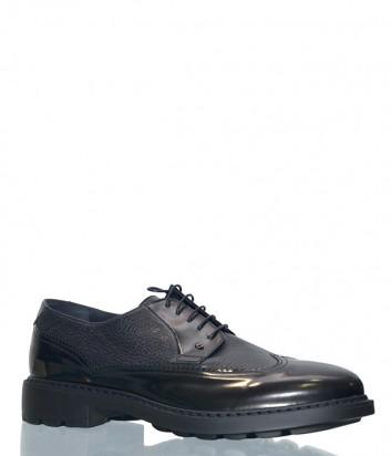 Мужские кожаные туфли Luca Guerrini 9720 черные