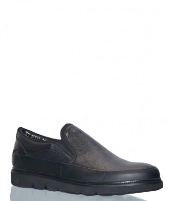 Черные кожаные туфли Roberto Serpentini 23905 на меху