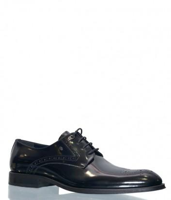 Черные туфли Roberto Serpentini 22504 в полированной коже