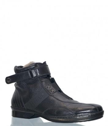 Кожаные ботинки Mario Bruni 90441 на меху черные
