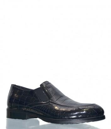 Черные туфли Mario Bruni 55841 с тиснением под крокодила
