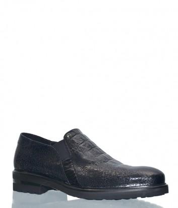 Черные туфли Mario Bruni 58914 в текстурной коже