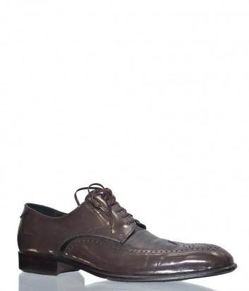 Мужские кожаные туфли Mario Bruni 46710 коричневые