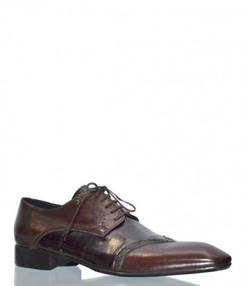 Мужские кожаные туфли Mario Bruni 45204 коричневые