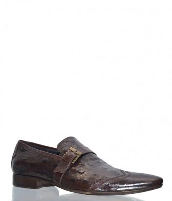 Мужские кожаные туфли Mario Bruni 44476 коричневые