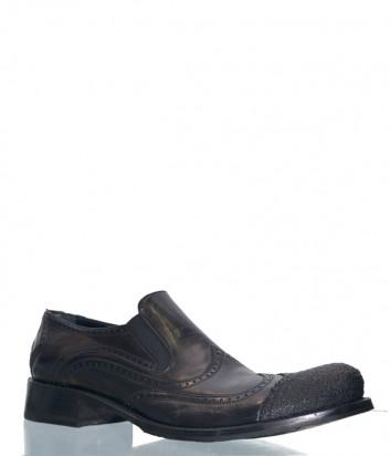 Мужские кожане туфли Barcly 9214 черные