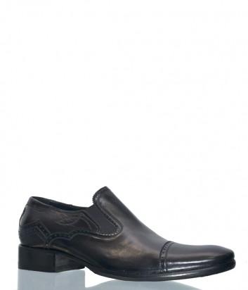Мужские туфли Barcly 8402 в гладкой коже черные