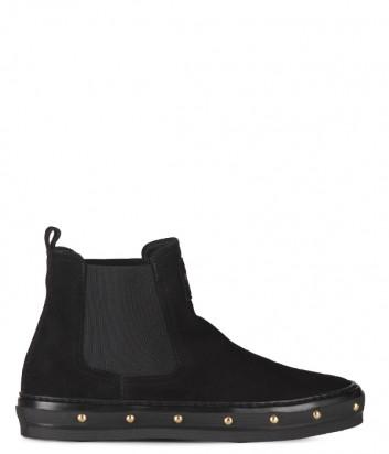 Женские замшевые ботинки Baldinini 848000 черные