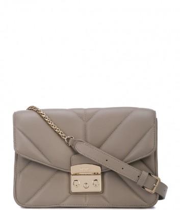 36377691491d Кожаная сумка Coccinelle Amy с металлической фурнитурой серая ...