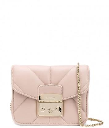 Маленькая сумочка Furla Metropolis 993654 в стеганной коже нежно-розовая