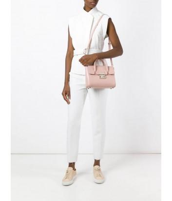 Средняя кожаная сумка Furla Metropolis 851154 нежно-розовая