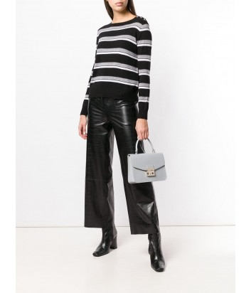 Кожаная сумка Furla Metropolis 993786 с откидным клапаном белая