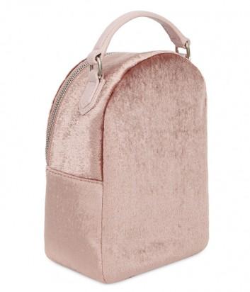 Бархатный рюкзак Furla Fortuna 992984 розовый