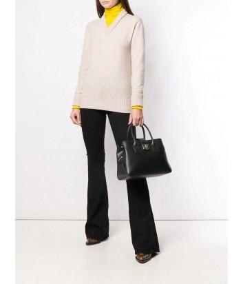 Кожаная сумка Furla Mira 993474 на два отделения черная