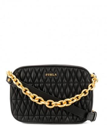 Маленькая сумка через плечо Furla Cometa 993102 в стеганной коже черная