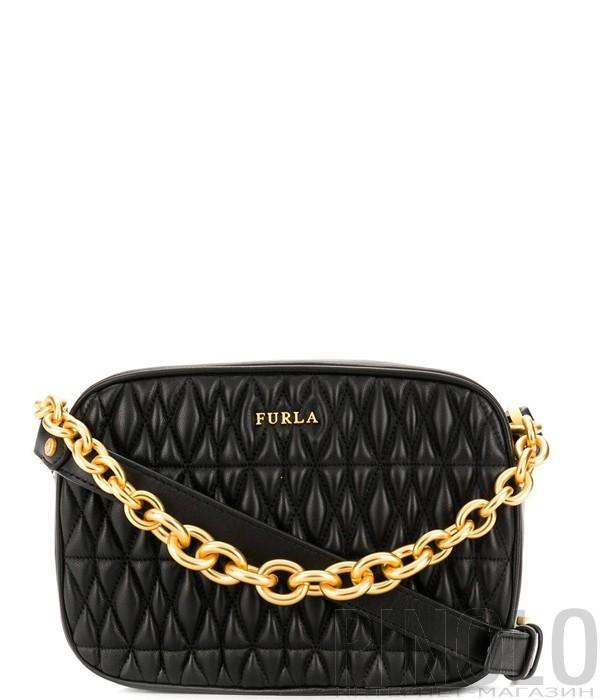 f0c78480bf1d Маленькая сумка через плечо Furla Cometa 993102 в стеганной коже черная