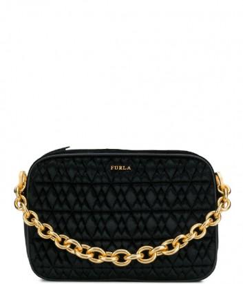 Черная бархатная сумочка через плечо Furla Cometa 993088 с цепочкой