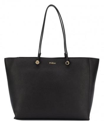 Большая кожаная сумка Furla Eden 992805 черная