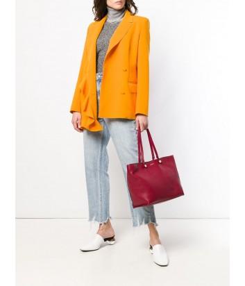 Большая кожаная сумка Furla Eden 992803 вишневая