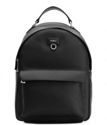 Кожаный рюкзак Furla Favola 998401 с внешним карманом черный