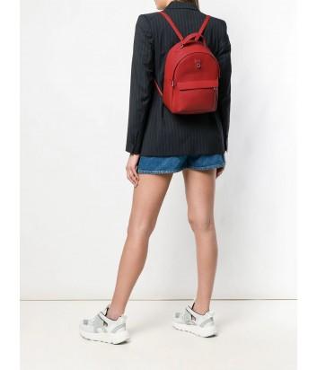 Кожаный рюкзак Furla Favola 1000628 с внешним карманом красный
