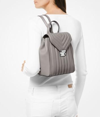 Серый рюкзак Michael Kors Whitney в стеганной коже