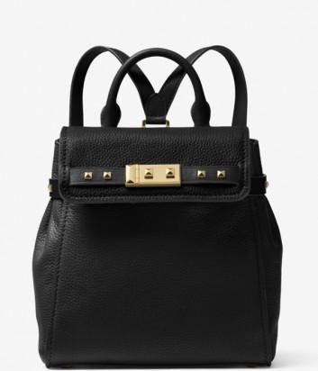 Маленький кожаный рюкзак Michael Kors Addison черный