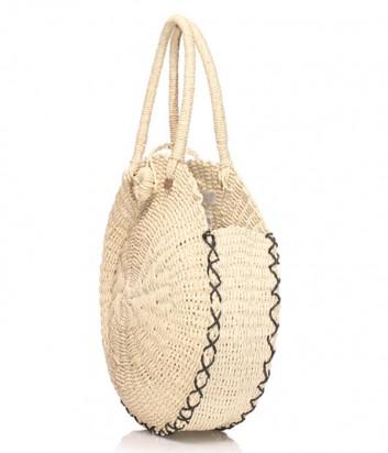 Круглая пляжная сумка Seafolly 71436-BG бежевая
